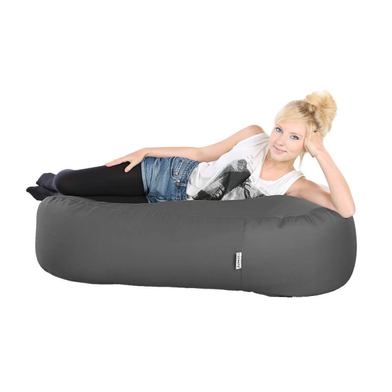 Indoor & Outdoor Ottoman Bean Bag - Slate Grey