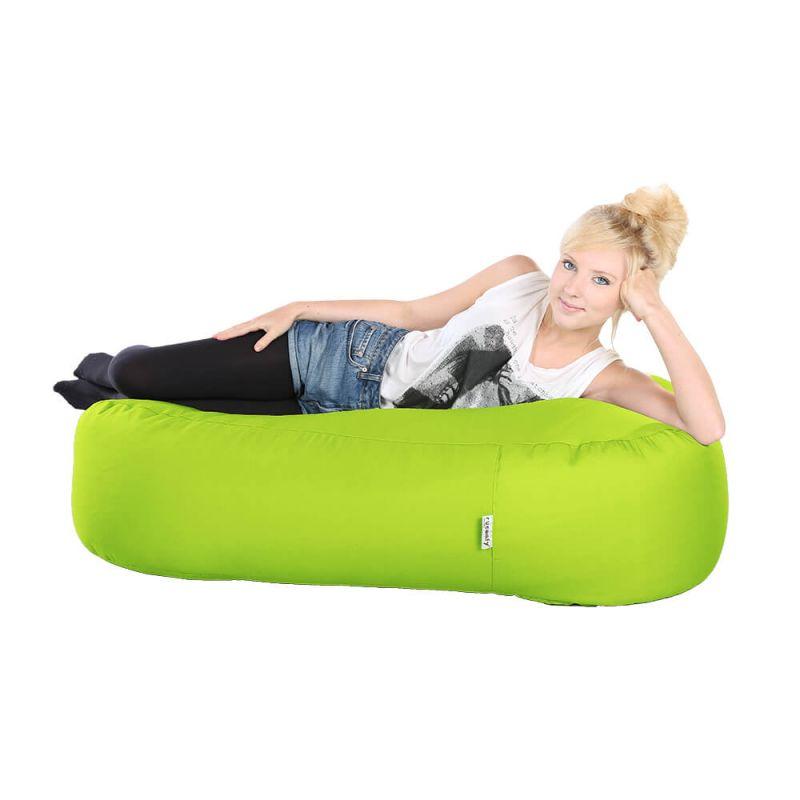 Indoor & Outdoor Ottoman Bean Bag - Lime Green