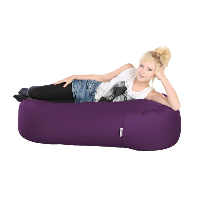 Indoor & Outdoor Ottoman Bean Bag - Purple
