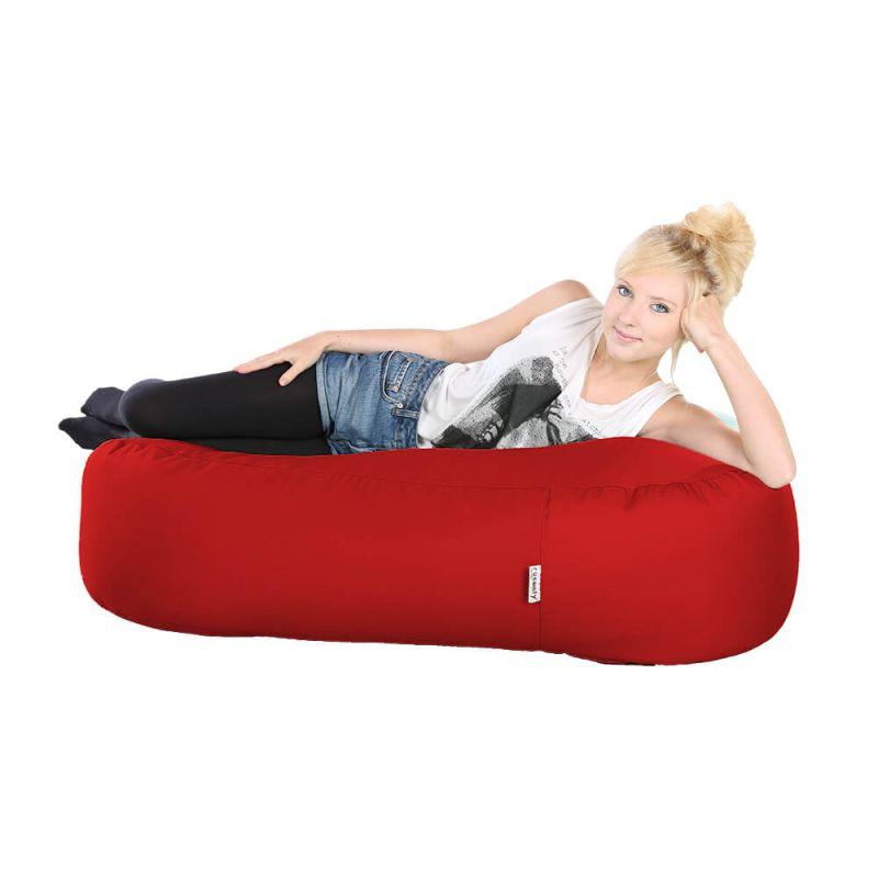 Indoor & Outdoor Ottoman Bean Bag - Red