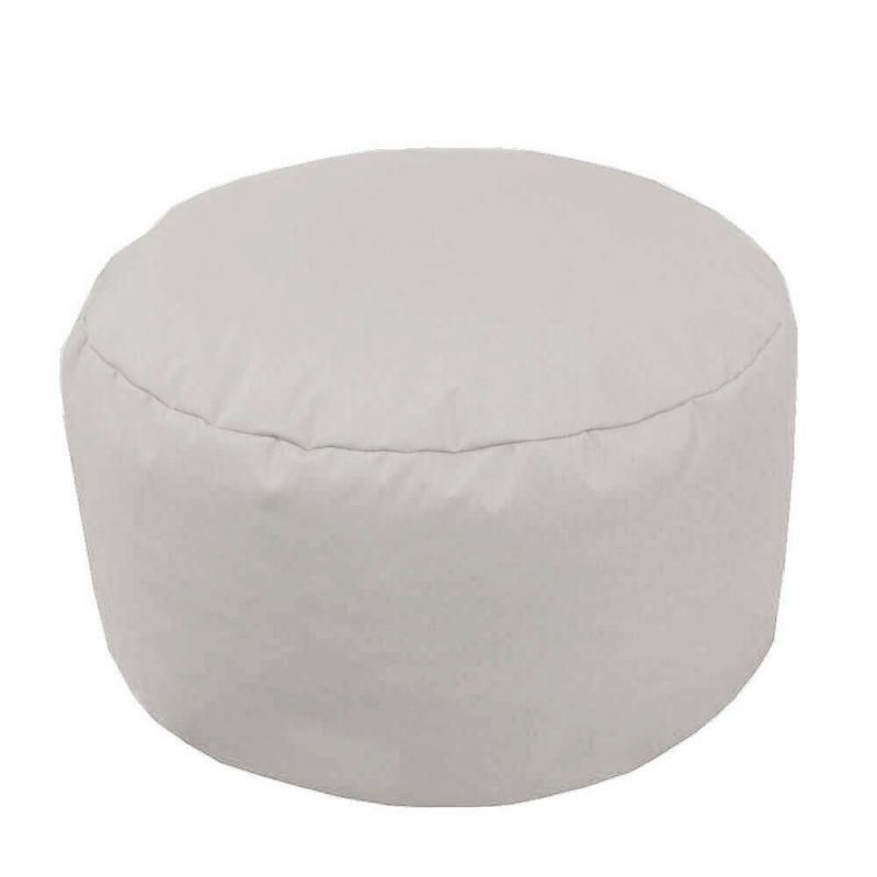 Indoor & Outdoor Footstool Bean Bag - Platinum Grey