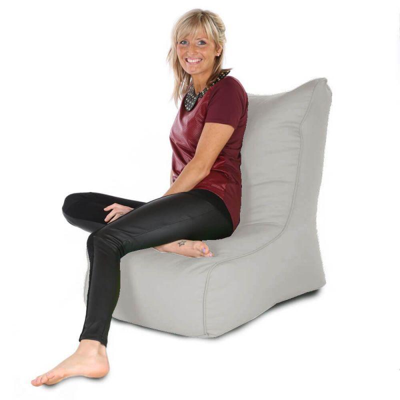 Indoor & Outdoor Comfy Adult Chair Bean Bag - Platinum Grey