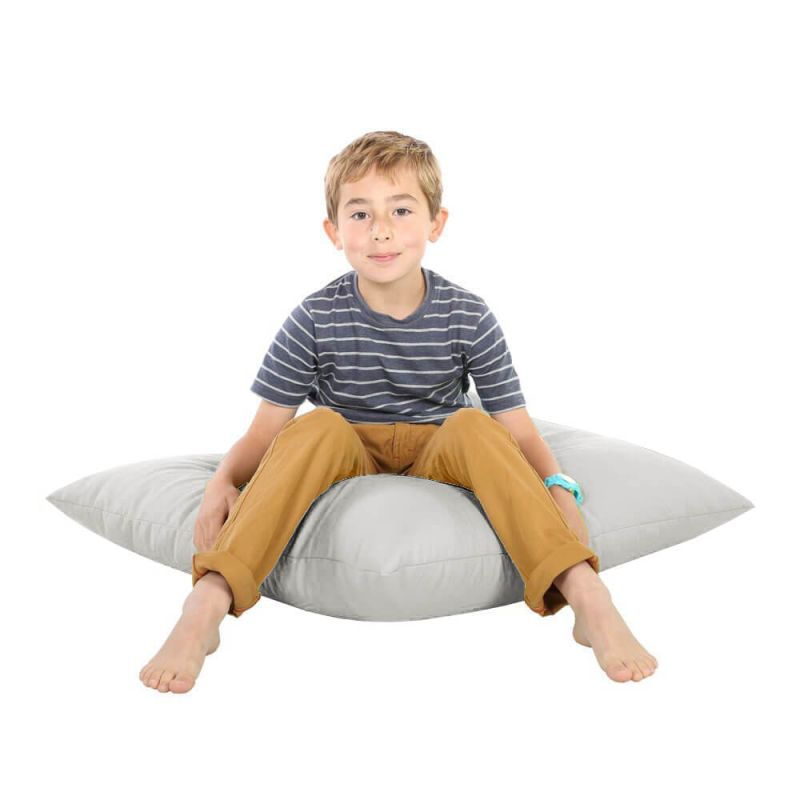 Indoor & Outdoor Giant Floor Cushion Bean Bag - Platinum Grey