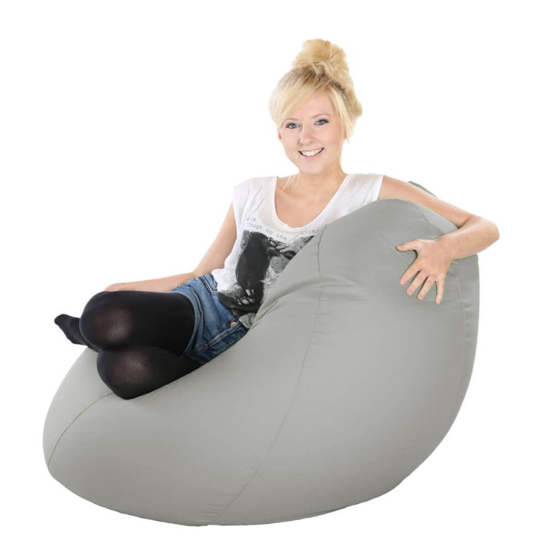 Vibe Highback Mansize Bean Bag - Platinum Grey