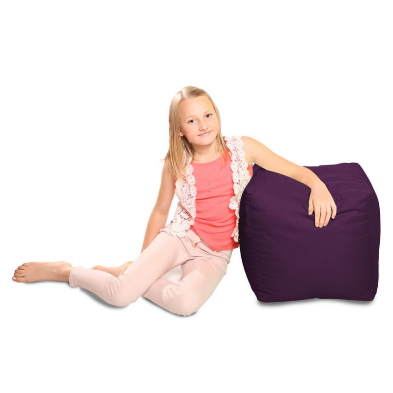 Indoor & Outdoor Cube Bean Bag - Purple