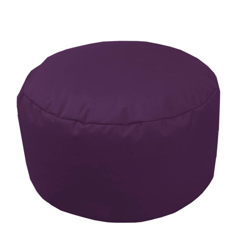 Indoor & Outdoor Footstool Bean Bag - Purple