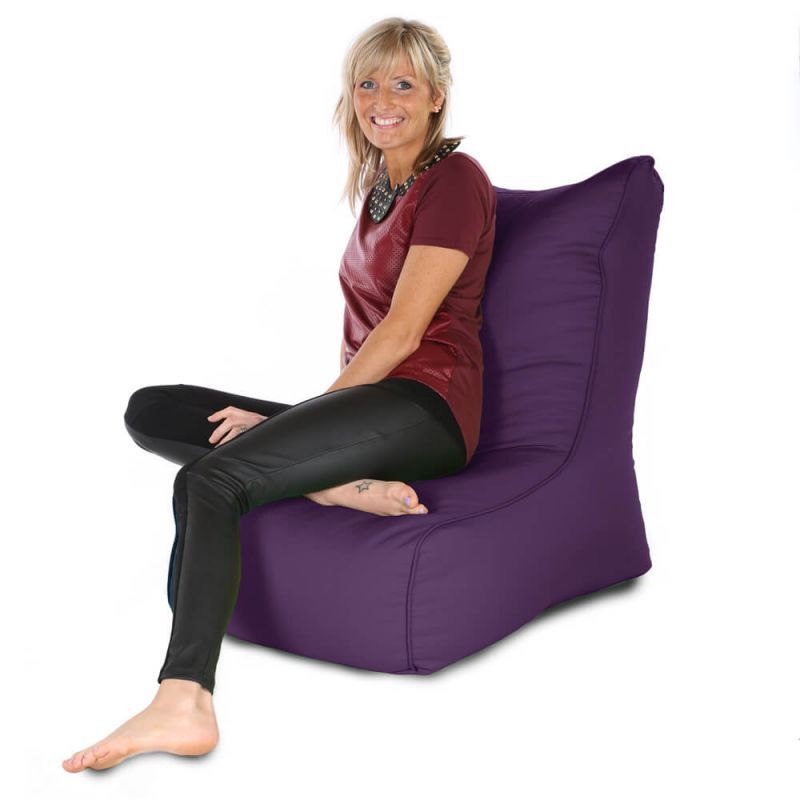 Indoor & Outdoor Comfy Adult Chair Bean Bag - Purple