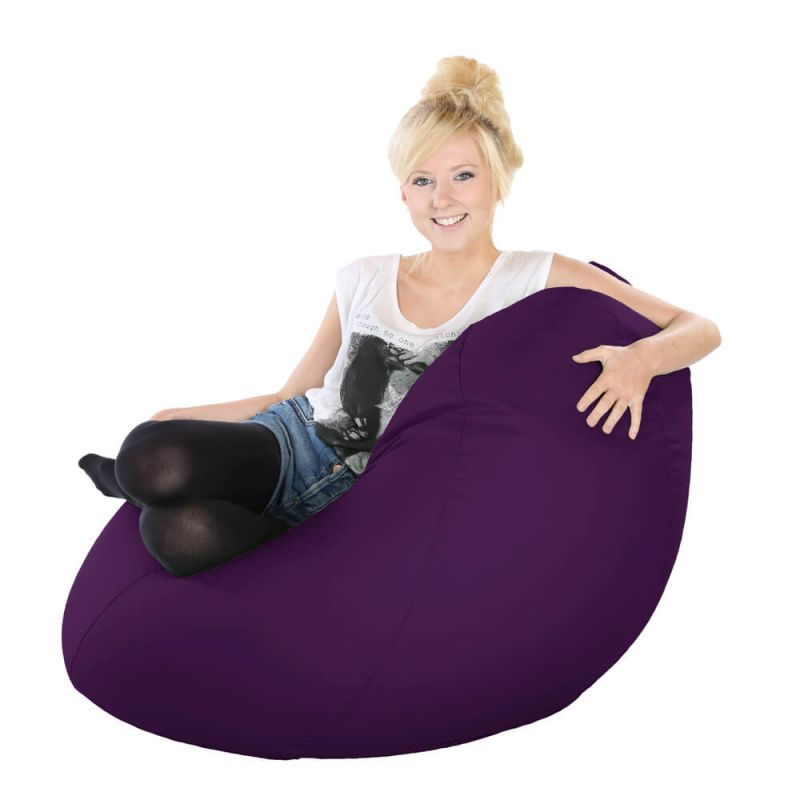 Vibe Highback Mansize Bean Bag - Purple