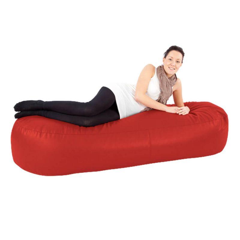 Faux Leather 6ft Bean Sofa Bean Bag - Red