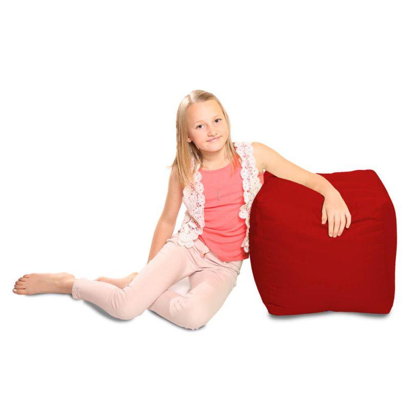 Indoor & Outdoor Cube Bean Bag - Red