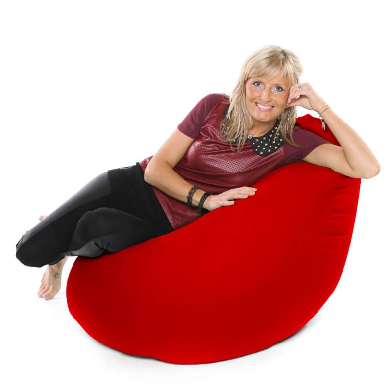 Faux Leather XXL Gaming Pod Bean Bag - Red