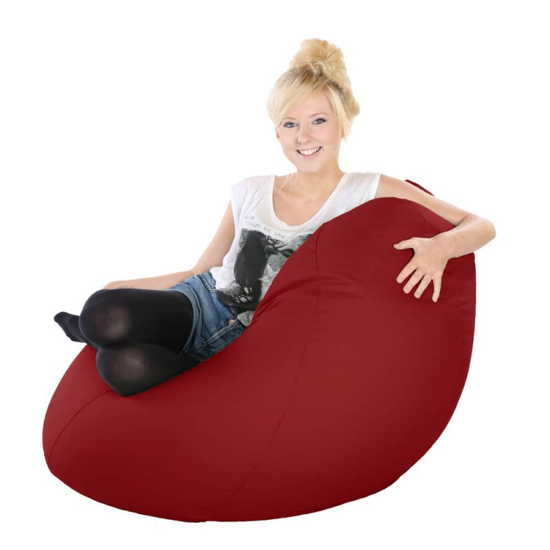Vibe Highback Mansize Bean Bag - Red