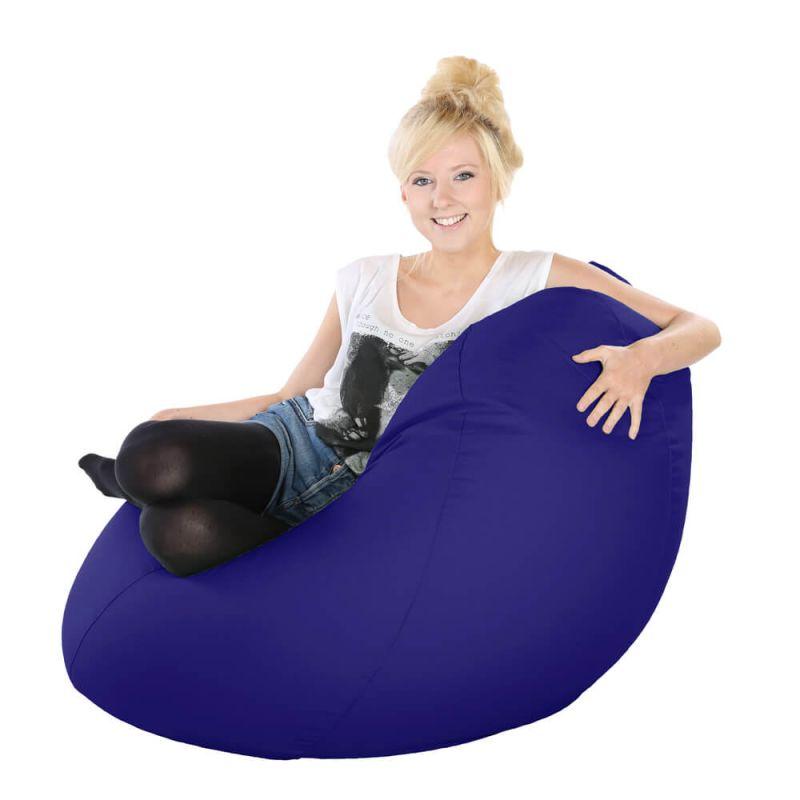 Vibe Highback Mansize Bean Bag - Royal Blue