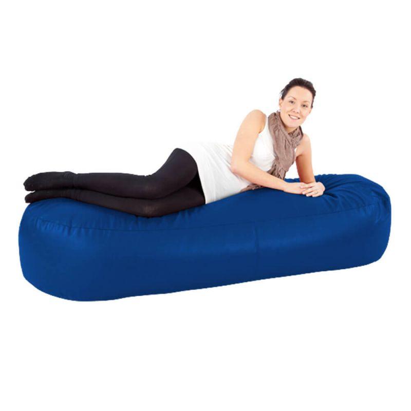 Faux Leather 6ft Bean Sofa Bean Bag - Royal Blue