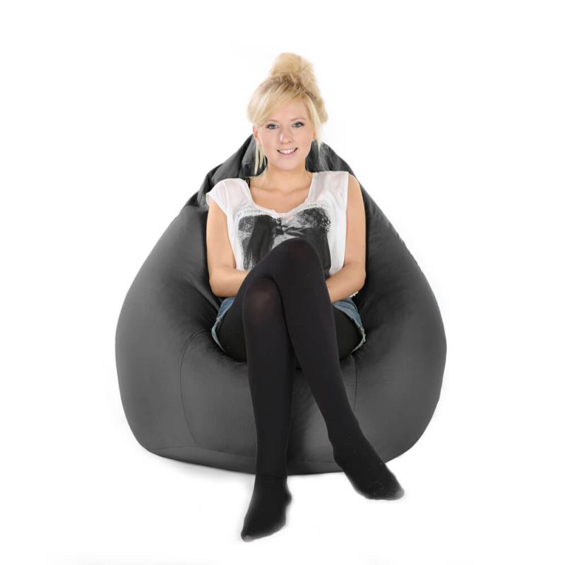 Indoor & Outdoor XXL Gaming Pod Bean Bag - Slate Grey