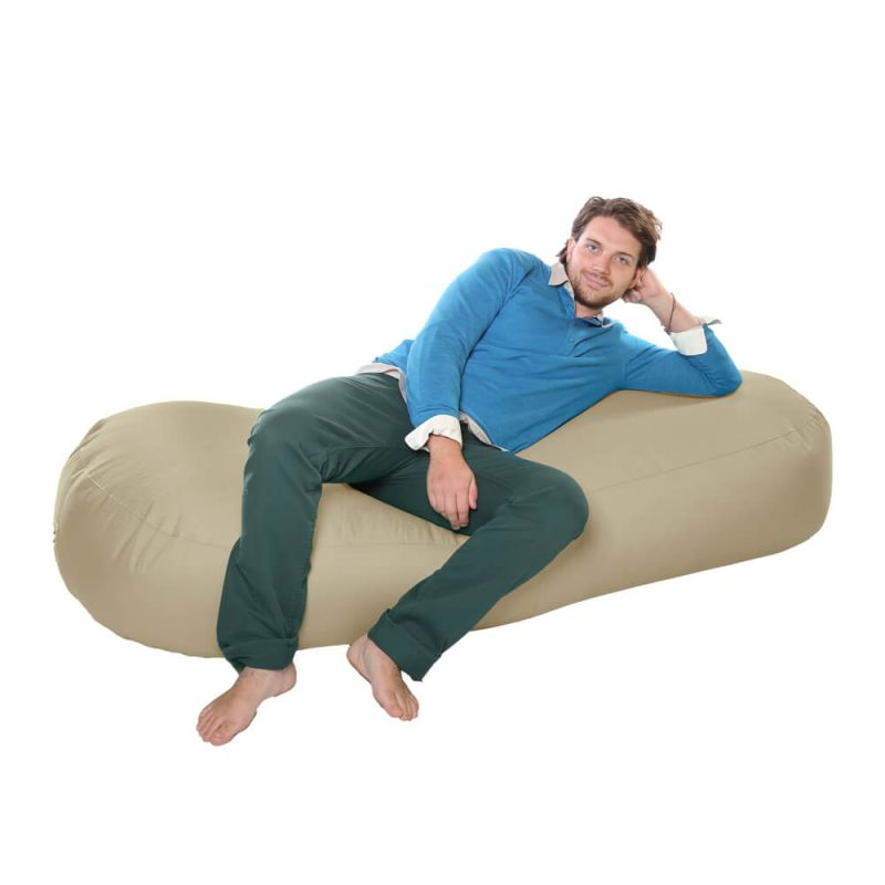 Vibe 6ft Bean Sofa Bean Bag - Stone