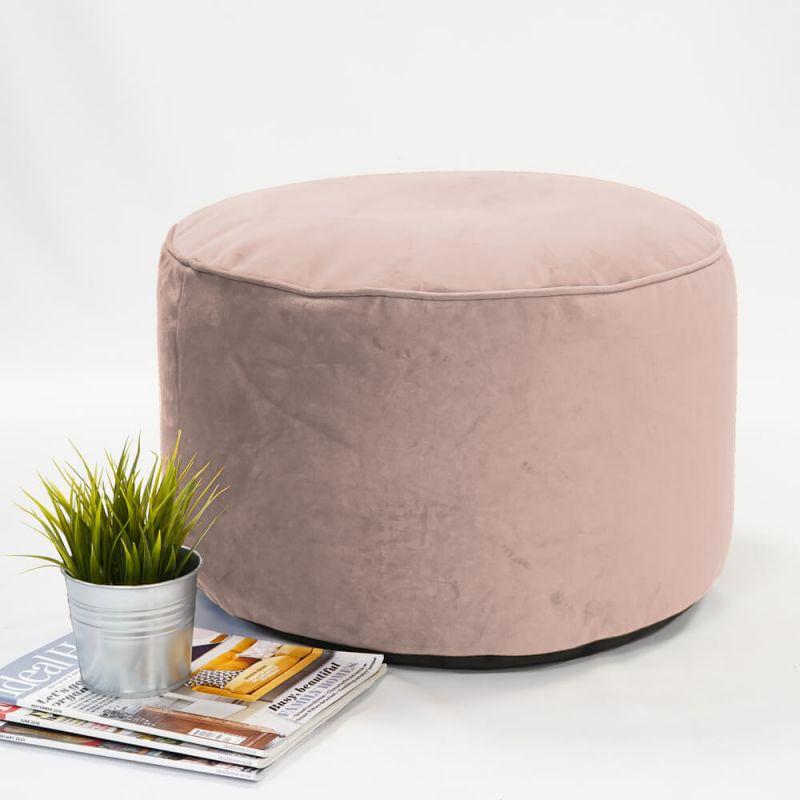 Velvet Pouffe - Soft Pink