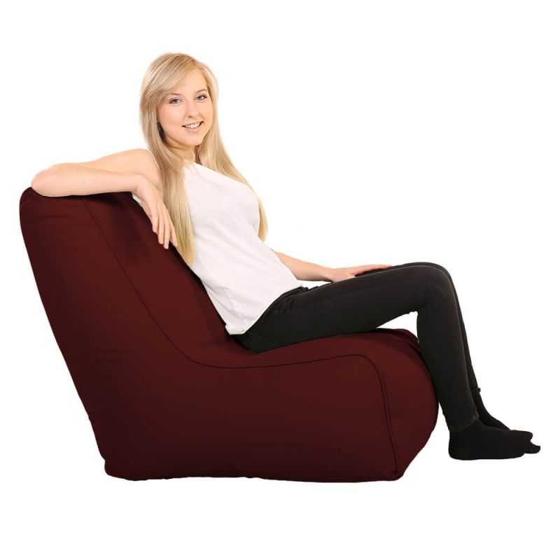 Vibe Comfy Adult Chair Bean Bag - Berry
