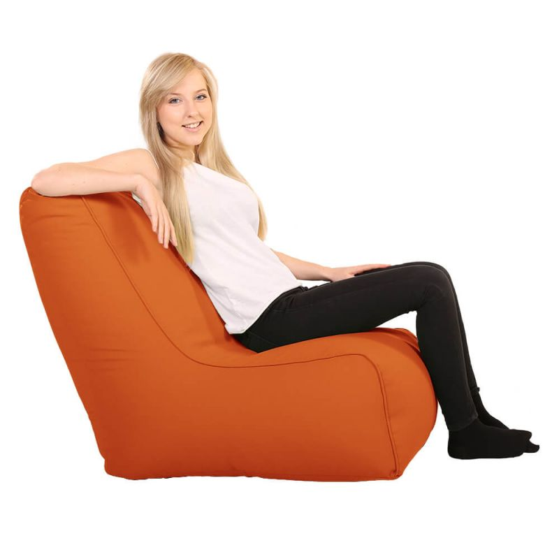 Vibe Comfy Adult Chair Bean Bag - Orange