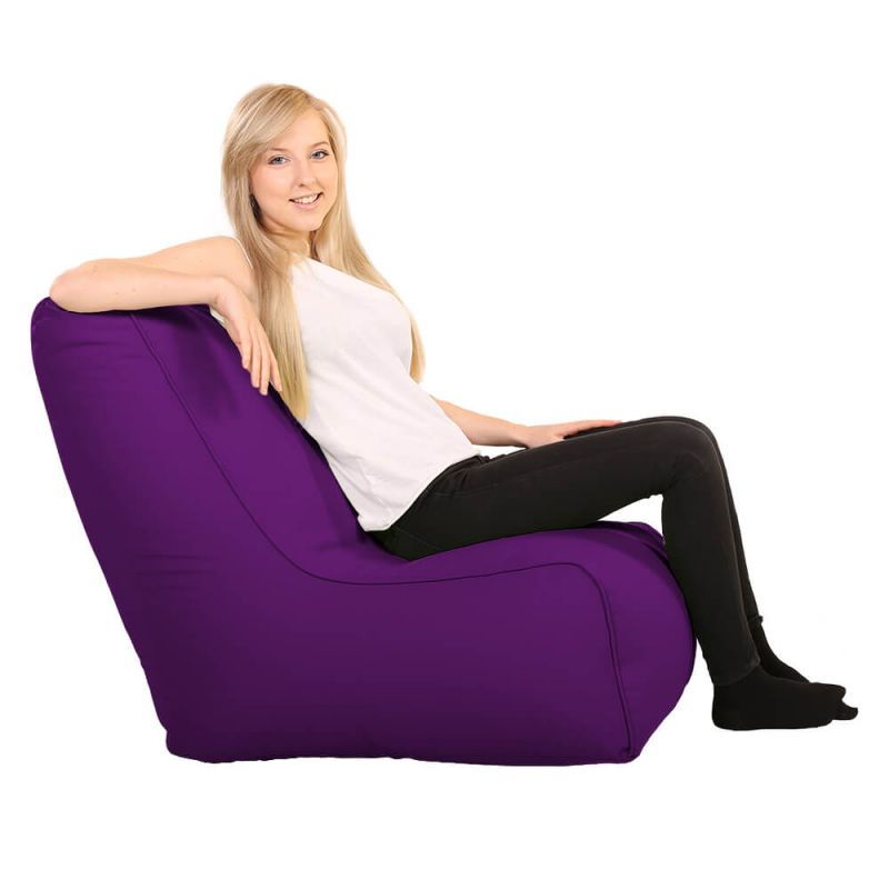Vibe Comfy Adult Chair Bean Bag - Purple