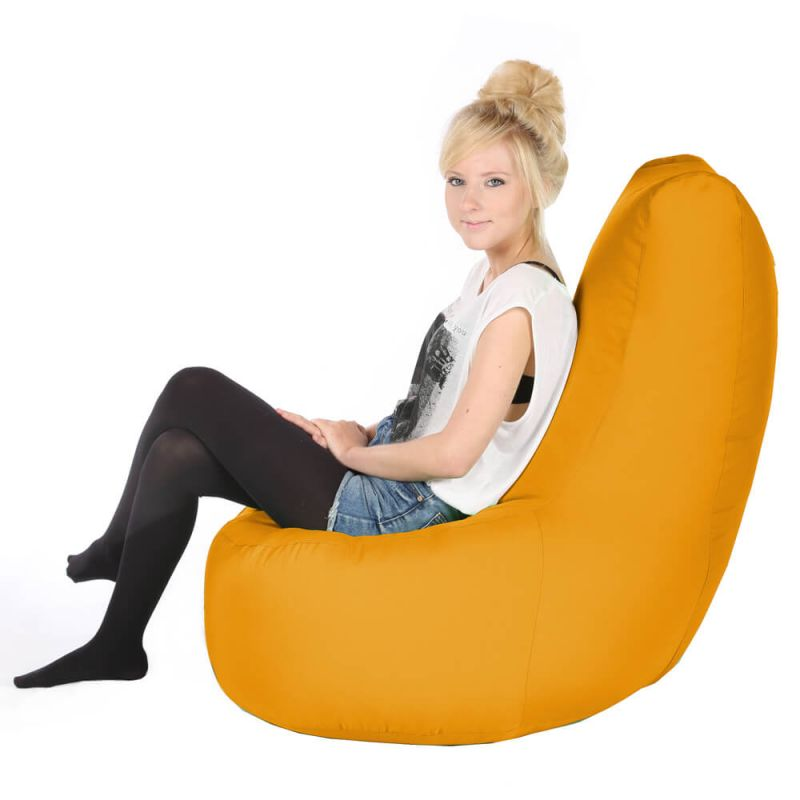 Vibe Comfy Adult Chair Bean Bag - Ochre