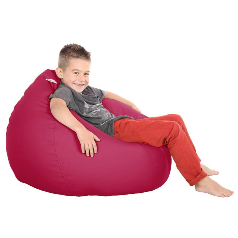 Vibe Kids Tall Gamer Bean Bag - Cerise Pink