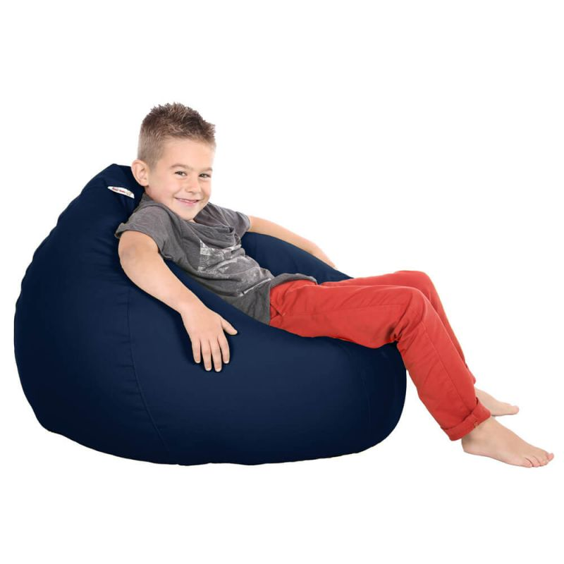 Vibe Kids Tall Gamer Bean Bag - Navy Blue