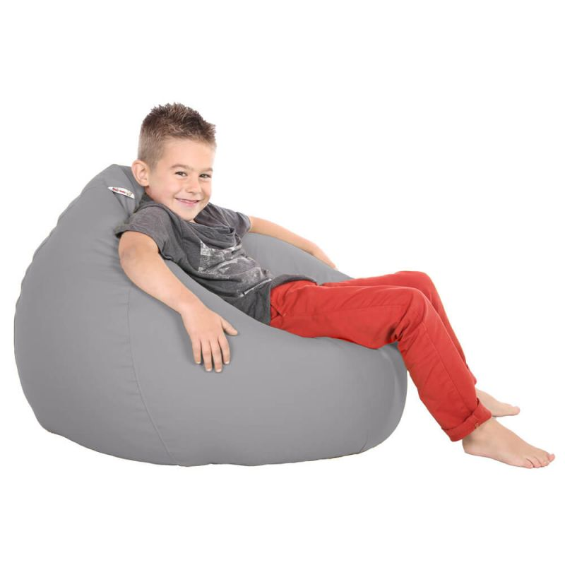 Vibe Kids Tall Gamer Bean Bag - Platinum Grey