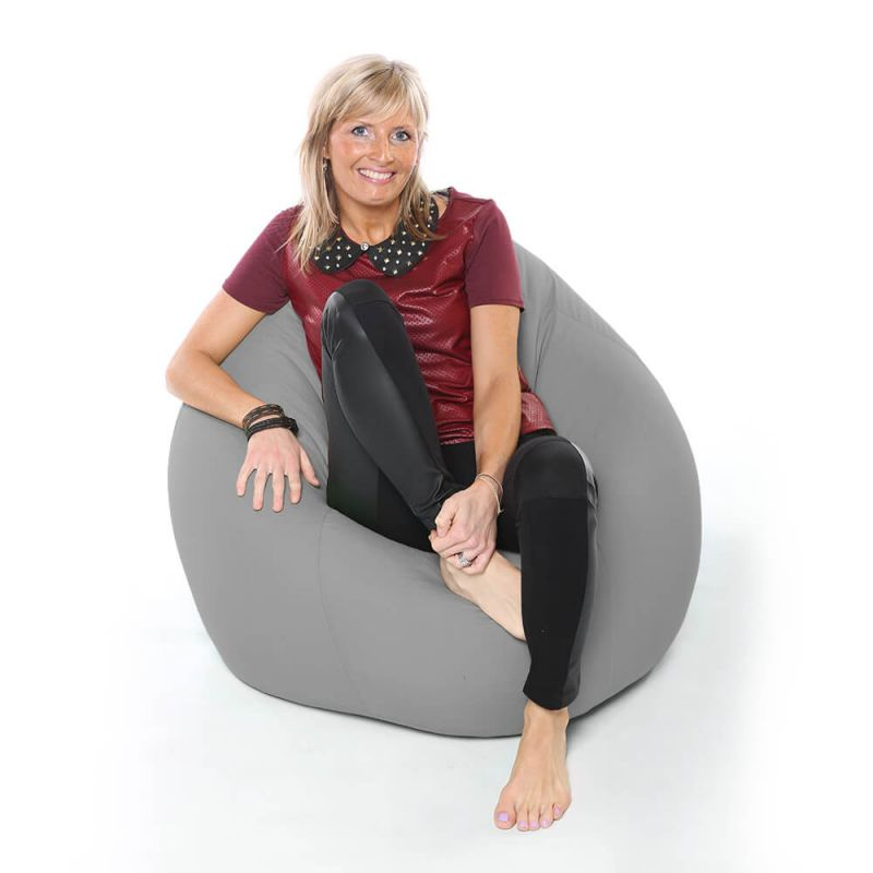 Vibe XXL Gaming Pod Bean Bag - Platinum Grey