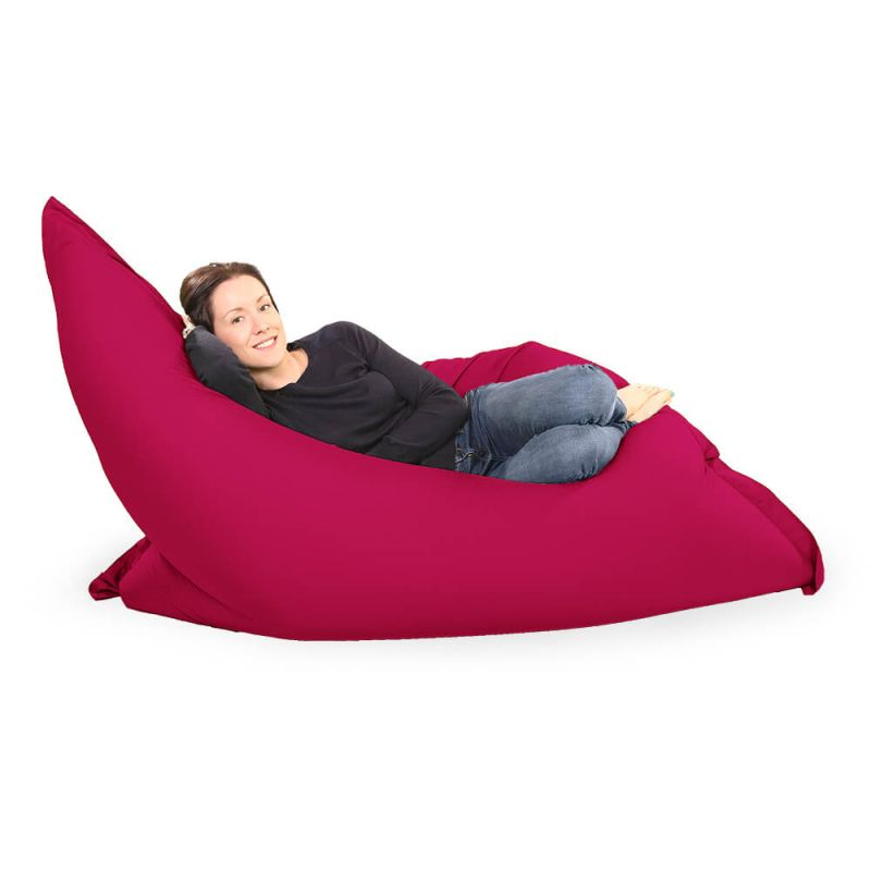 Giant Adult Beanbag in Cerise Pink