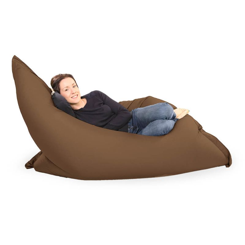 Giant Adult Beanbag in Chocolate Brown