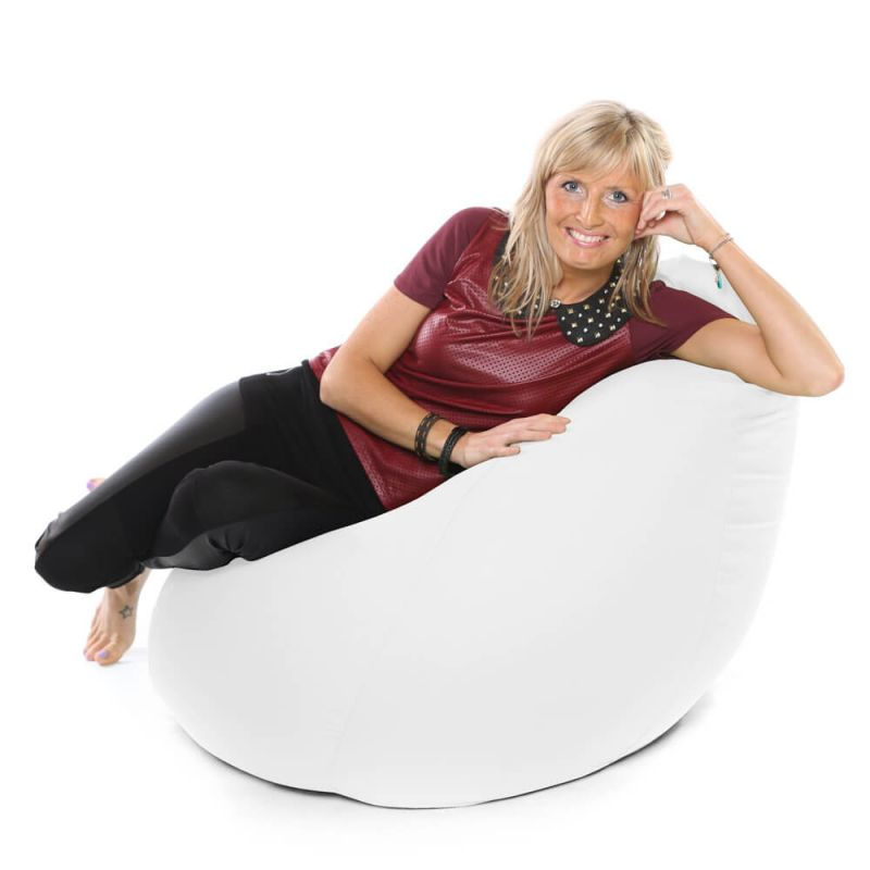 Faux Leather XXL Gaming Pod Bean Bag - White