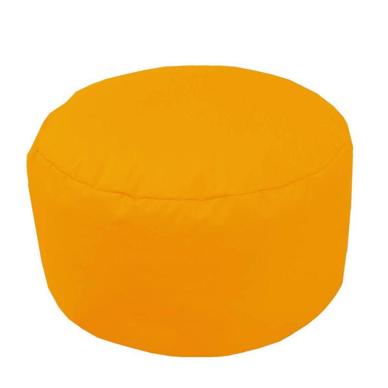 Indoor & Outdoor Footstool Bean Bag - Yellow