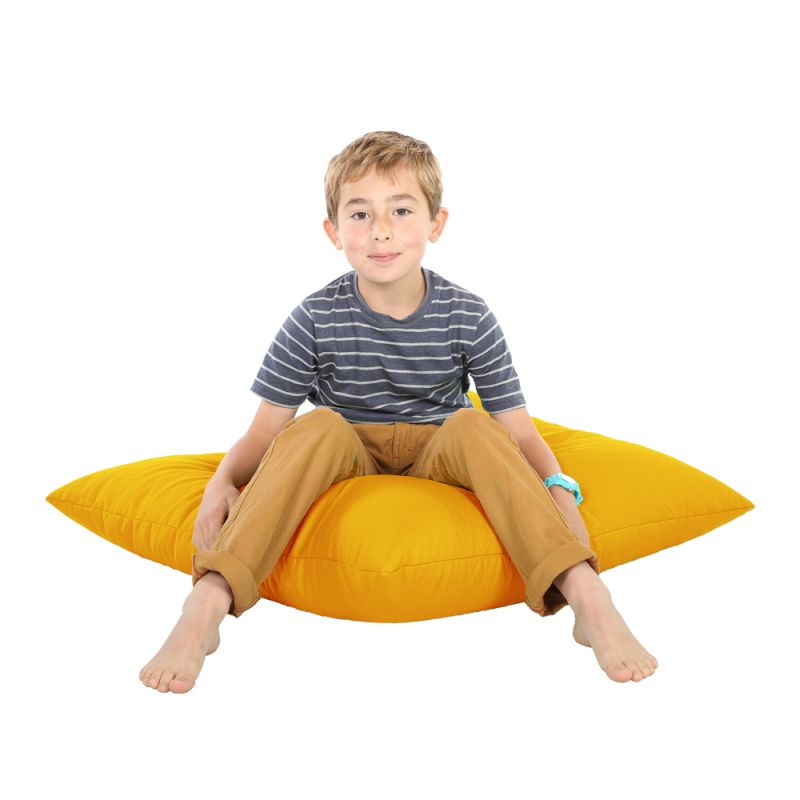Indoor & Outdoor Giant Floor Cushion Bean Bag - Yellow
