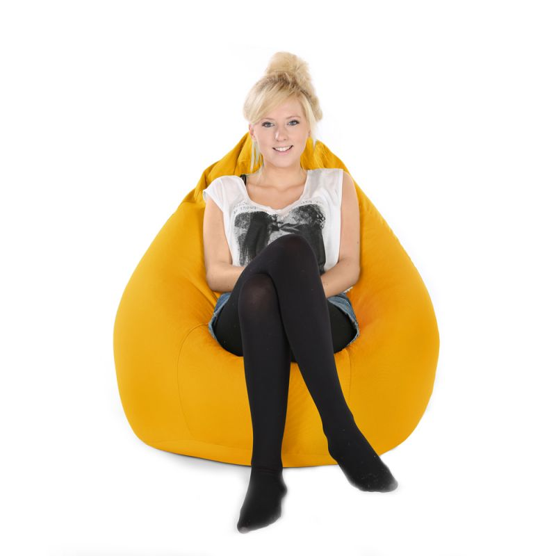 Indoor & Outdoor XXL Gaming Pod Bean Bag - Yellow