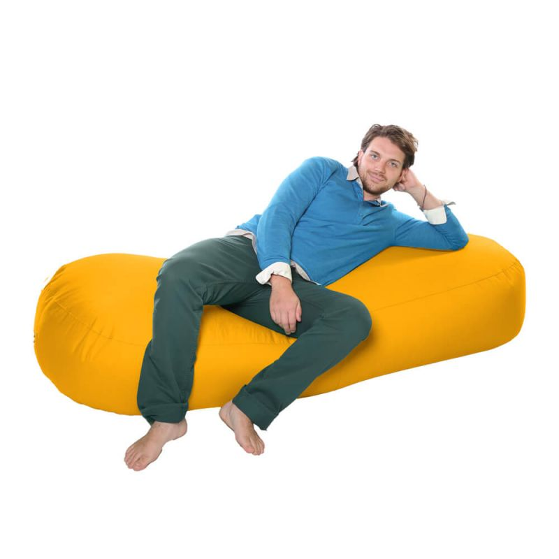 Vibe 6ft Bean Sofa Bean Bag - Ochre