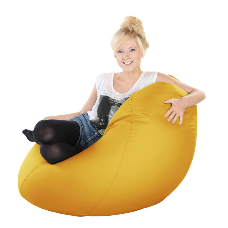 Vibe Highback Mansize Bean Bag - Ochre