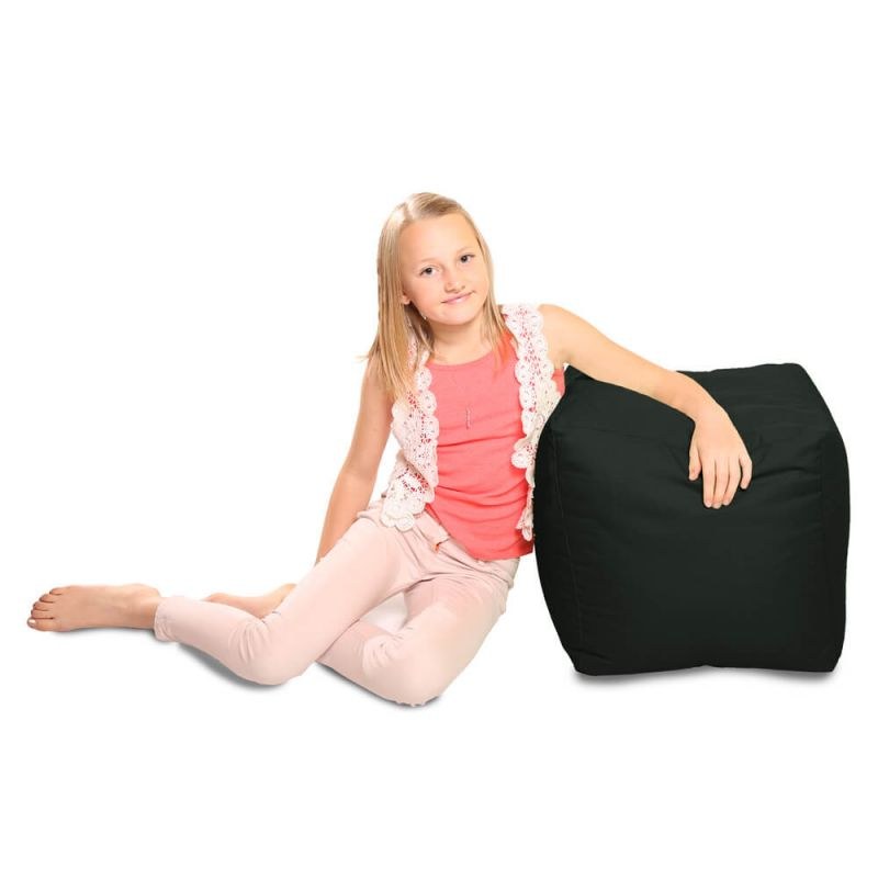 Indoor & Outdoor Cube Bean Bag - Black