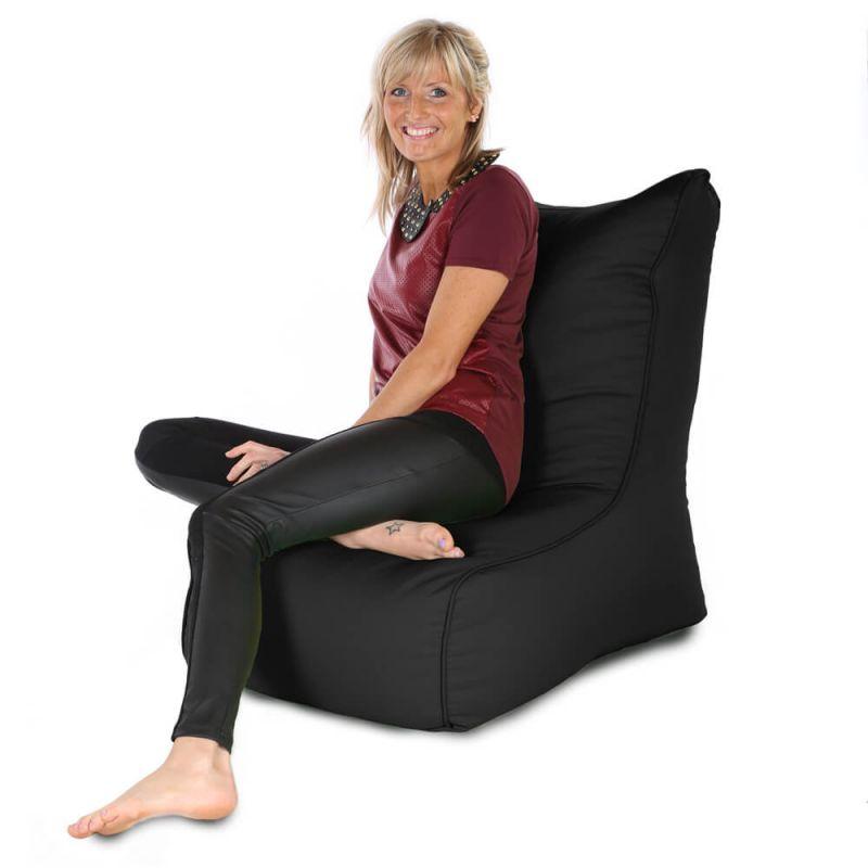 Indoor & Outdoor Comfy Adult Chair Bean Bag - Black