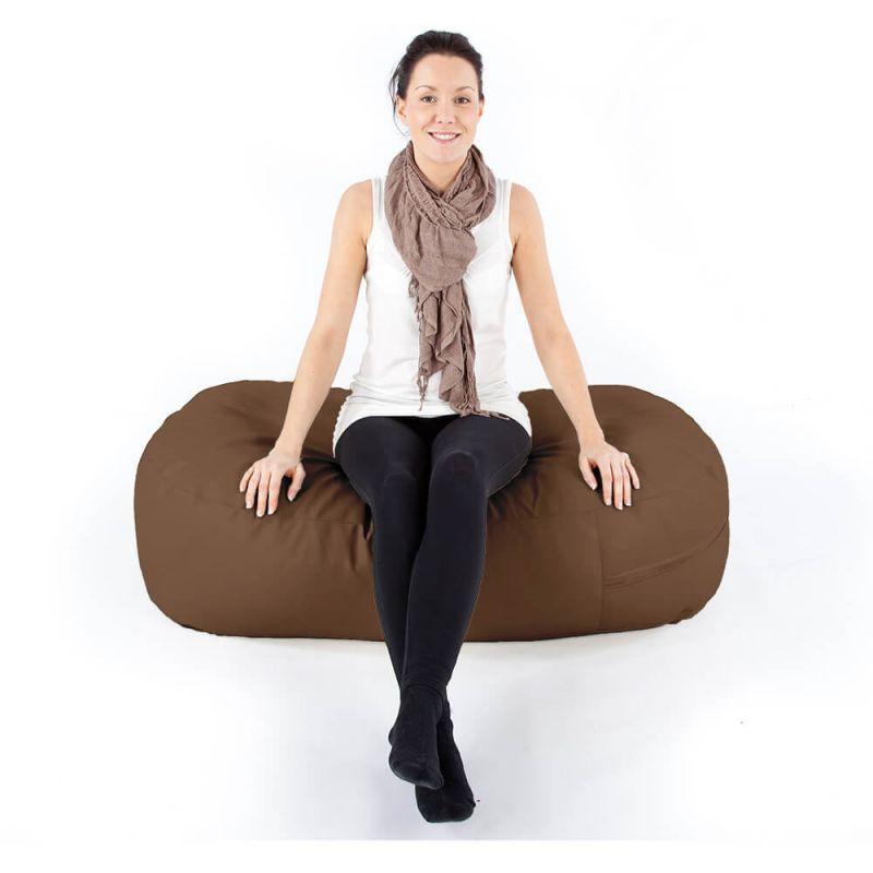Vibe Ottoman Bean Bag - Chocolate Brown