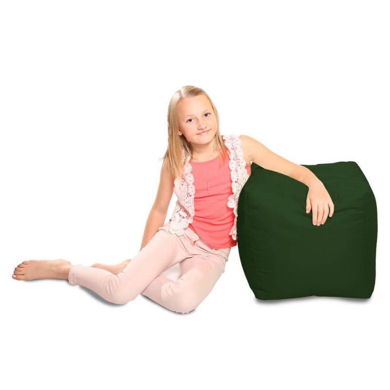 Indoor & Outdoor Cube Bean Bag - Bottle Green