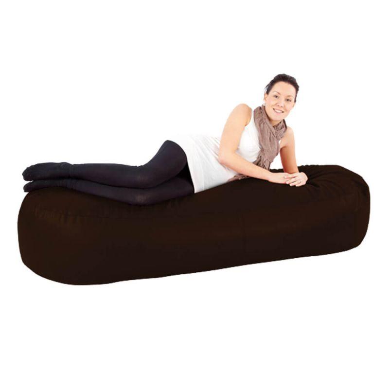 Faux Leather 6ft Bean Sofa Bean Bag - White
