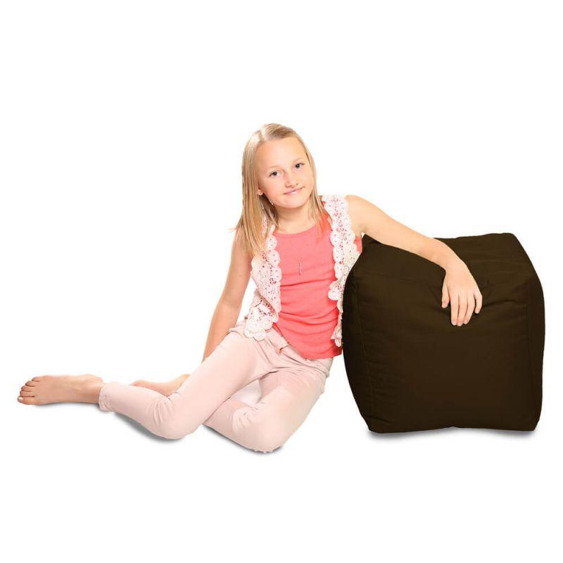 Indoor & Outdoor Cube Bean Bag - Brown