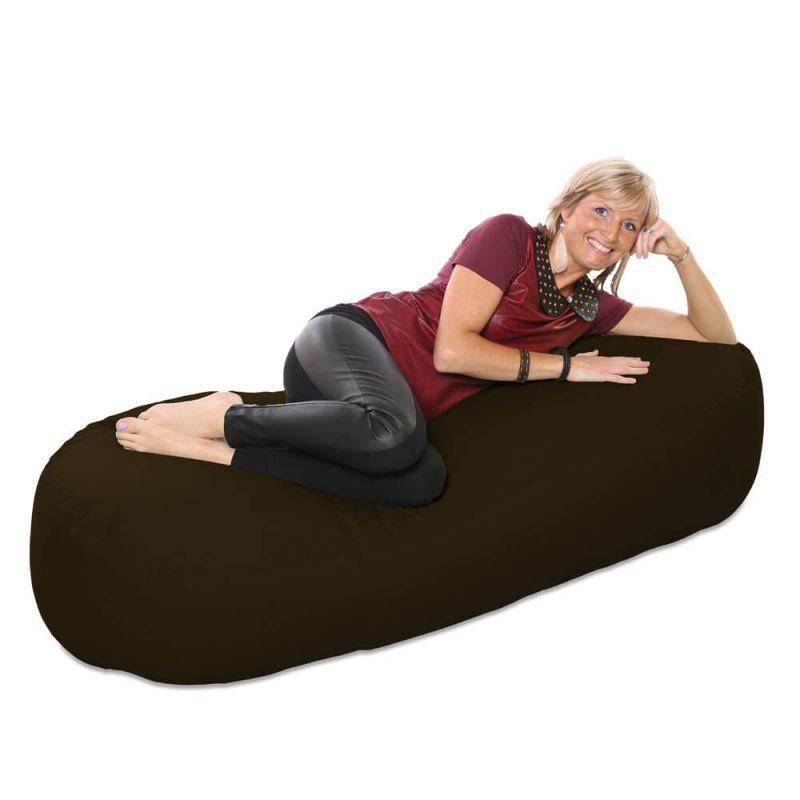 Vibe 5ft Bean Sofa Bean Bag - Brown