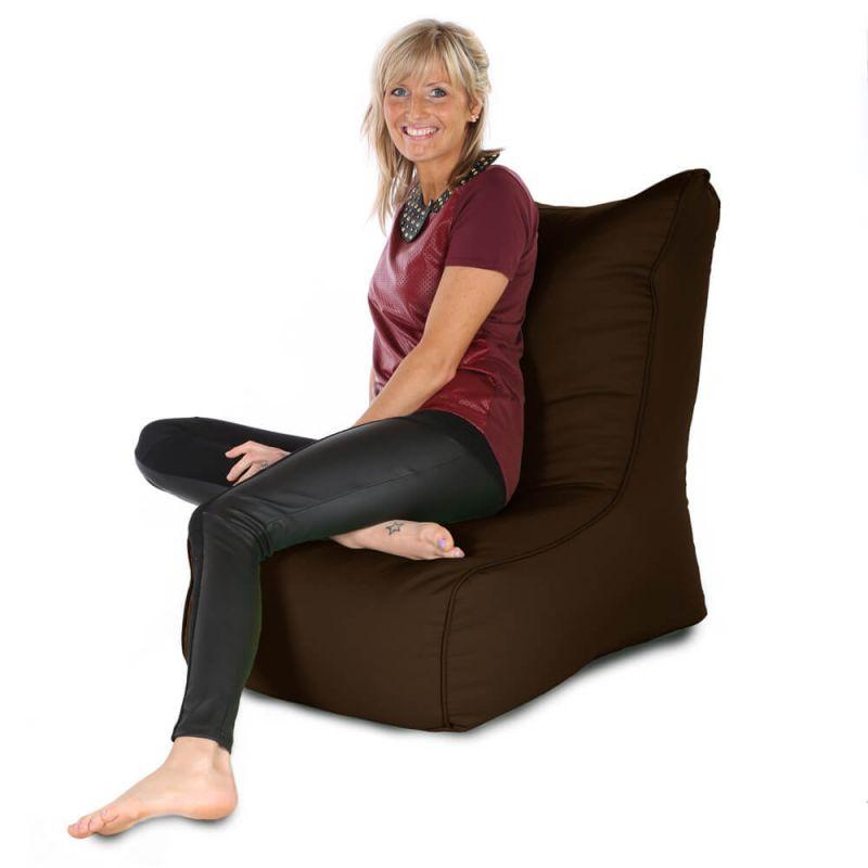 Indoor & Outdoor Comfy Adult Chair Bean Bag - Brown