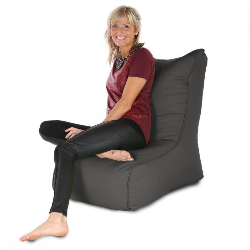 Indoor & Outdoor Comfy Adult Chair Bean Bag - Slate Grey