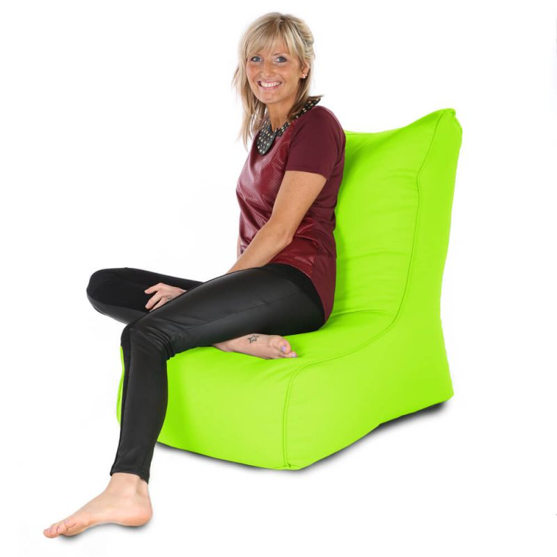 Indoor & Outdoor Comfy Adult Chair Bean Bag - Lime Green