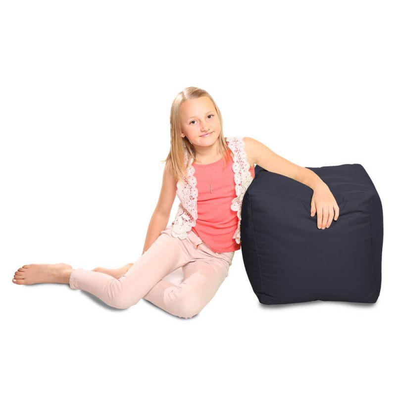 Indoor & Outdoor Cube Bean Bag - Navy Blue