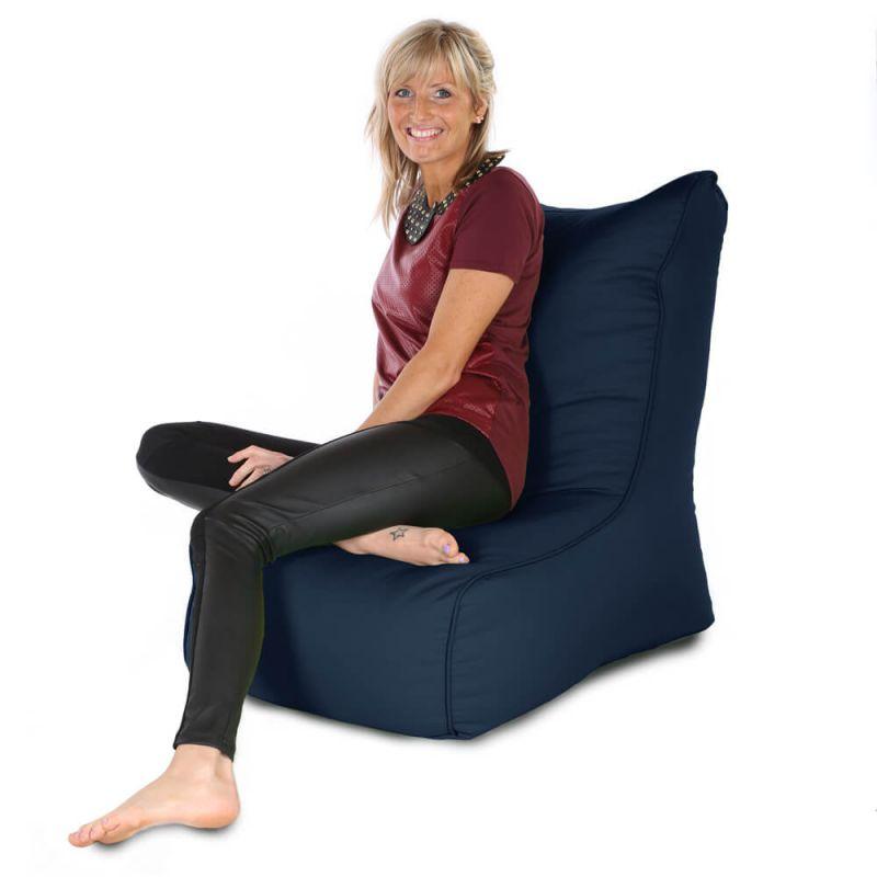 Indoor & Outdoor Comfy Adult Chair Bean Bag - Navy Blue