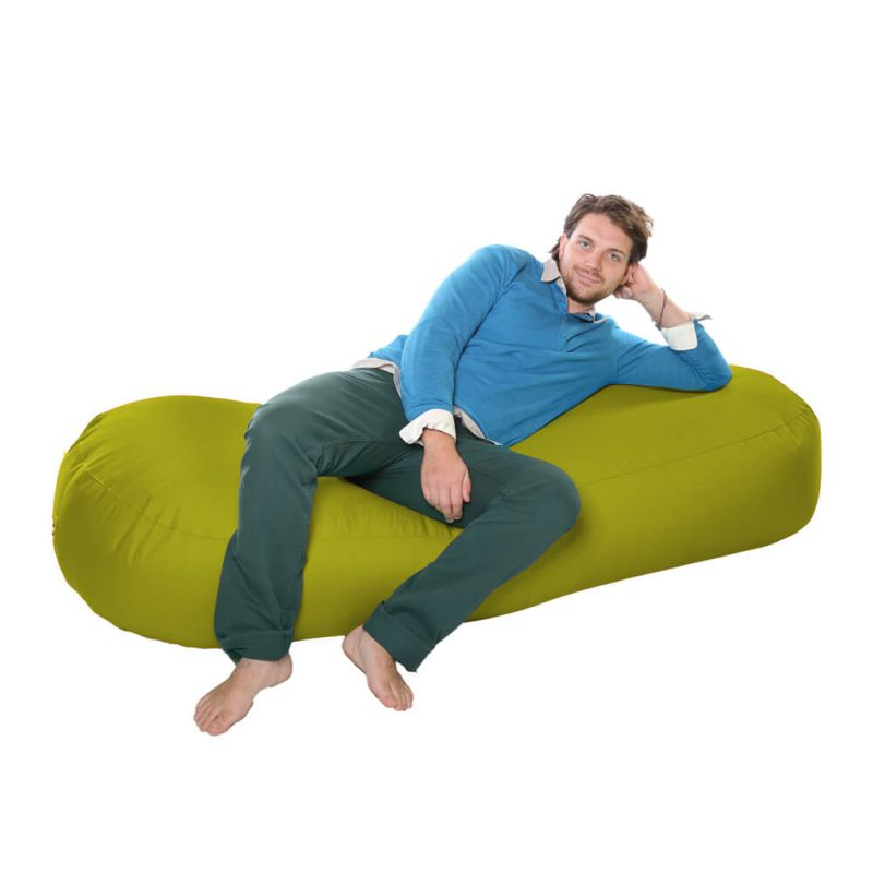 Vibe 6ft Bean Sofa Bean Bag - Olive Green